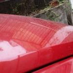 空から火山灰が降ってきた!洗車しなきゃ…。