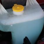 ウォッシャー液を入れる+害虫駆除